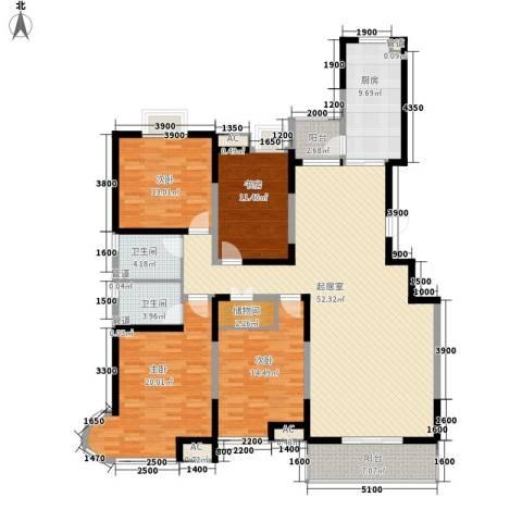 顺义金宝城4室0厅2卫1厨177.00㎡户型图