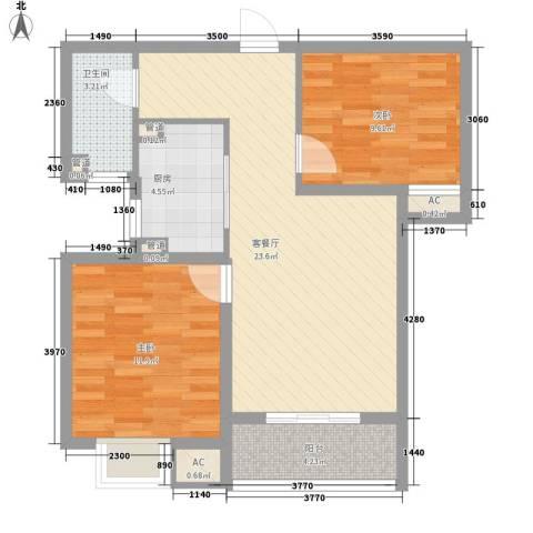 丰产路国税局家属院2室1厅1卫1厨85.00㎡户型图