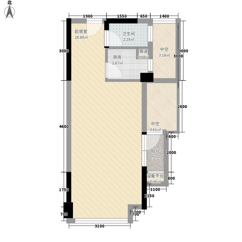 风临国际中心47.38㎡风临国际中心户型图住宅b2户型1室2厅1卫户型1室2厅1卫