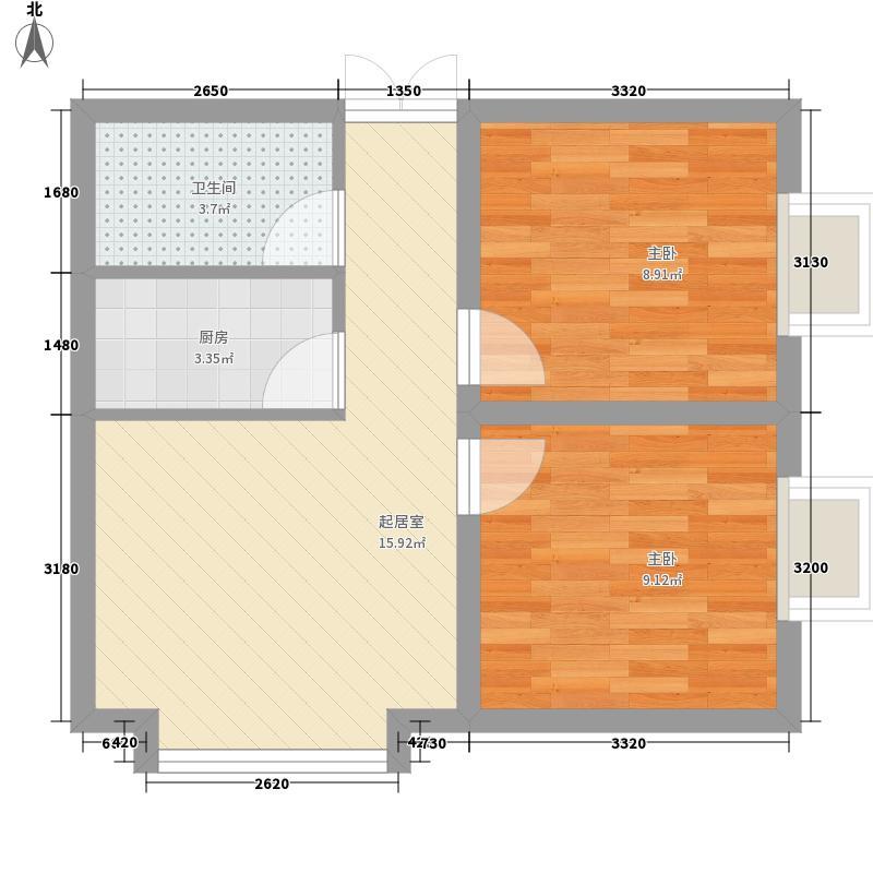 幸福BOX49.66㎡幸福BOX户型图C1户型2室1厅1卫1厨户型2室1厅1卫1厨