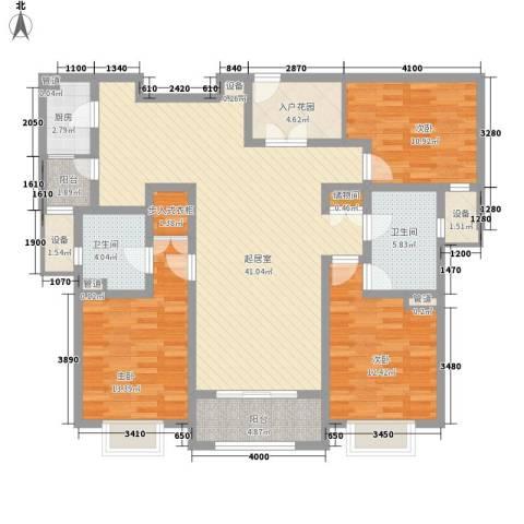 上置绿洲香岛原墅3室0厅2卫1厨154.00㎡户型图