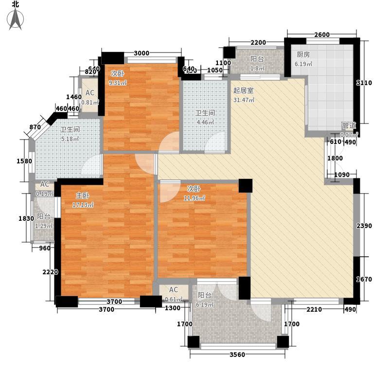 理想四维康城国际128.00㎡理想四维康城国际户型图康桥郡2号3号C套型3室2厅2卫户型3室2厅2卫