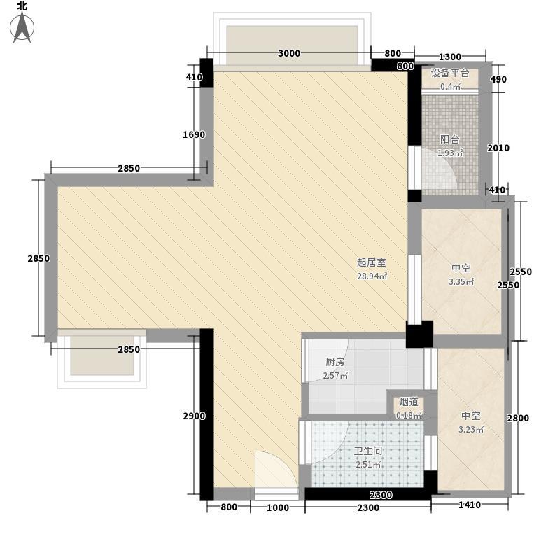 风临国际中心48.17㎡风临国际中心户型图住宅b6户型1室2厅1卫4厨户型1室2厅1卫4厨