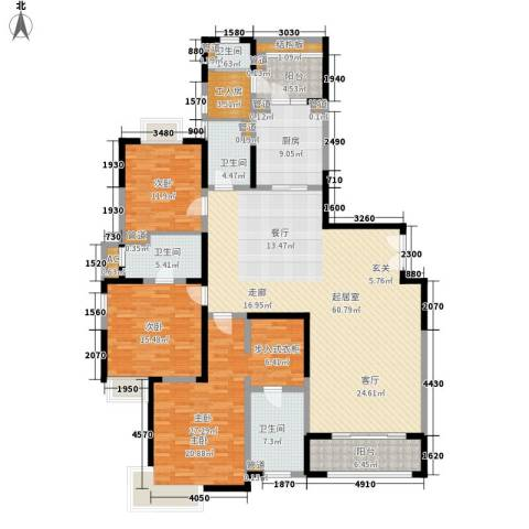 远雄徐汇园3室0厅4卫1厨184.00㎡户型图