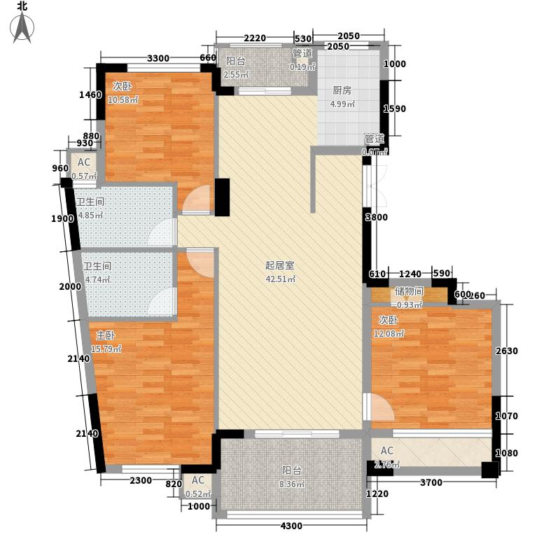 理想四维康城国际理想四维康城国际户型图5号楼B户型图3室2厅2卫1厨户型3室2厅2卫1厨