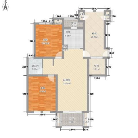 世纪城龙昌苑2室0厅1卫1厨91.41㎡户型图