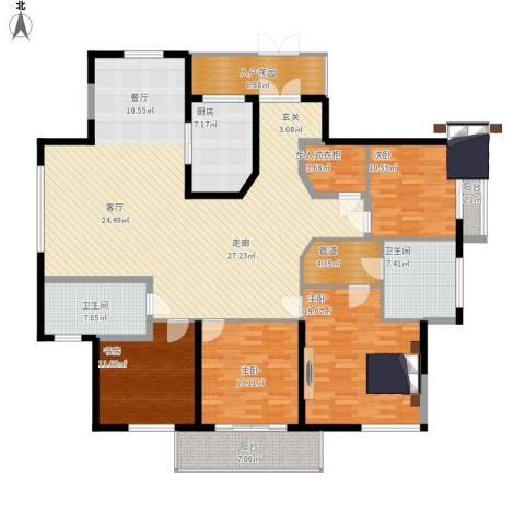 龙泽半岛逸湾4室1厅2卫1厨232.00㎡户型图