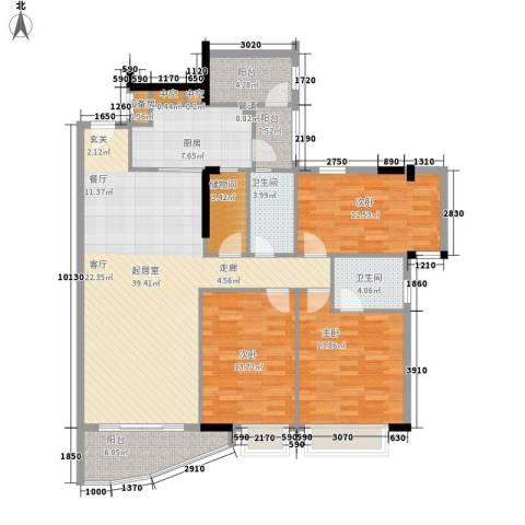 达成大厦3室0厅2卫1厨126.00㎡户型图