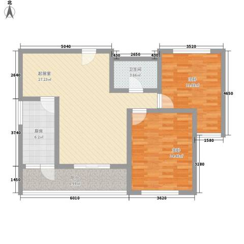 新星花园2室0厅1卫1厨145.00㎡户型图