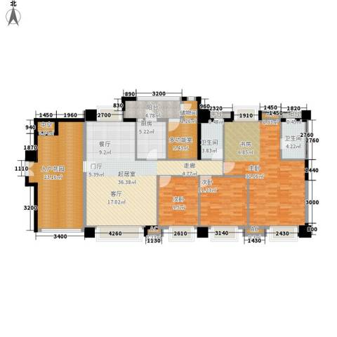 达成大厦3室0厅2卫1厨137.70㎡户型图