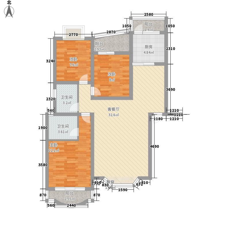 水榭花都117.15㎡水榭花都117.15㎡3室2厅2卫1厨户型3室2厅2卫1厨