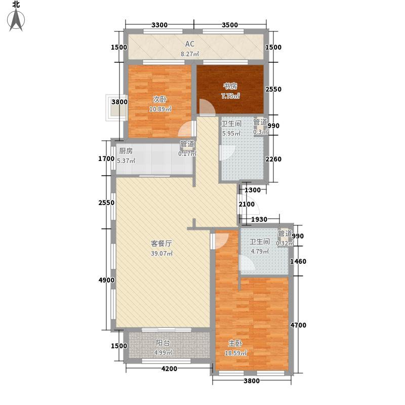 绿城西溪诚园156.00㎡C1户型3室2厅