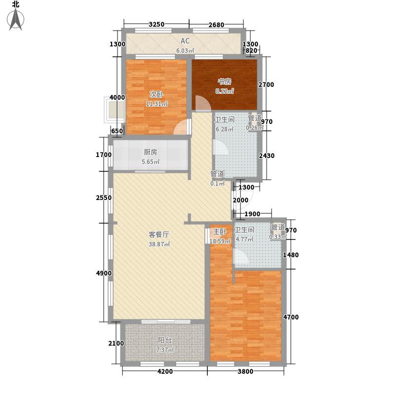 绿城西溪诚园163.00㎡C3户型3室2厅