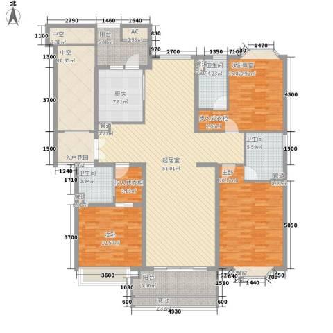 天正滨江3室0厅3卫1厨171.00㎡户型图
