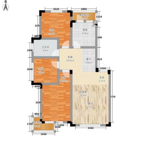 爵士公馆3室0厅1卫1厨99.00㎡户型图