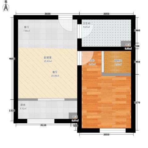 客车厂南B区1室0厅1卫1厨51.00㎡户型图