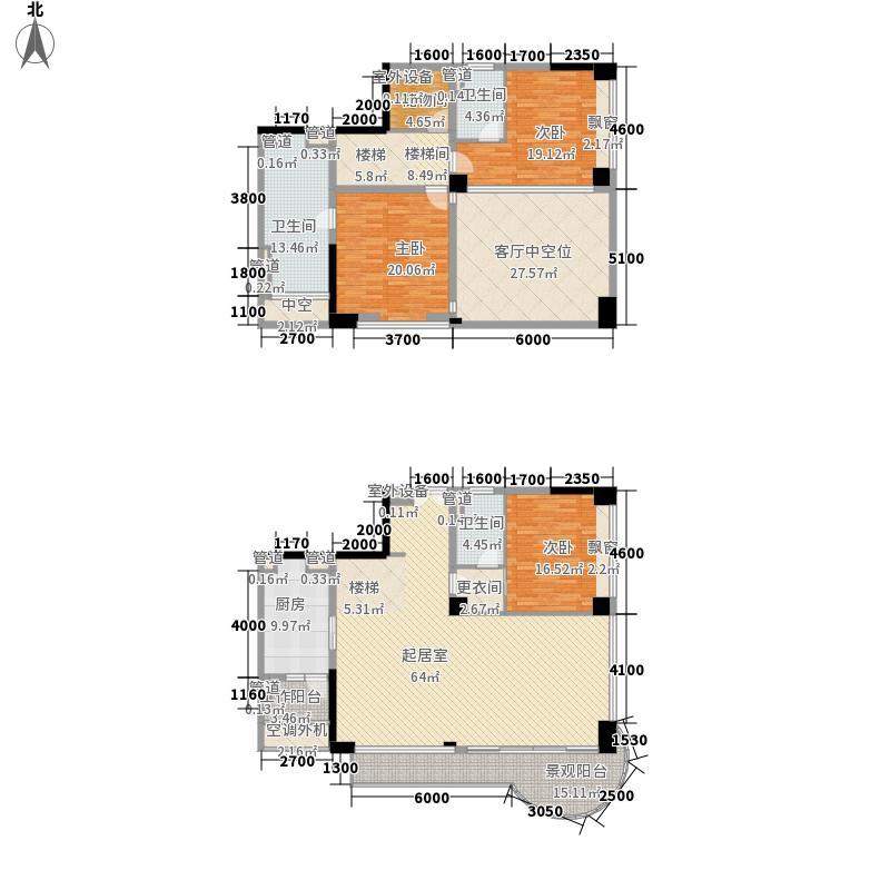 中信红树湾207.18㎡10-1-02户型3室2厅