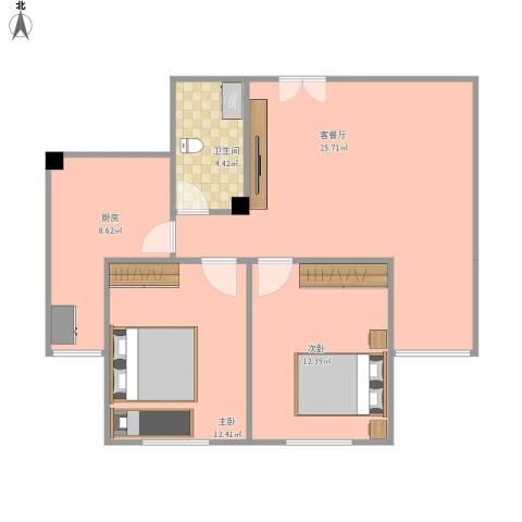 华新园67-1-*022室1厅1卫1厨94.00㎡户型图