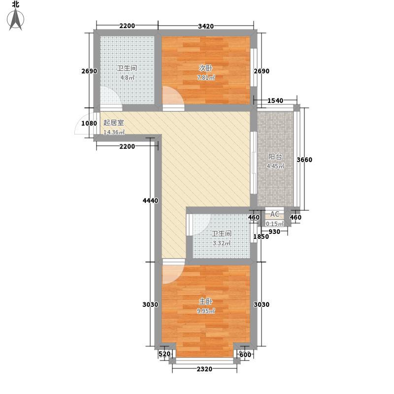 迎西城・龙湾佳园67.46㎡迎西城・龙湾佳园户型图A户型(东户)2室1厅1卫1厨户型2室1厅1卫1厨