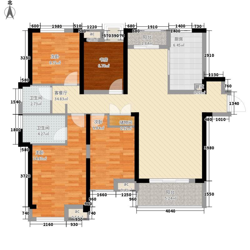 融科城142.00㎡融科城户型图一期D6户型4室2厅2卫1厨户型4室2厅2卫1厨