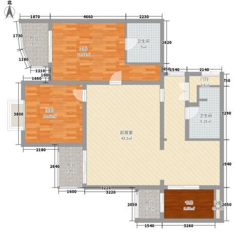 翌景嘉园3室0厅2卫0厨146.00㎡户型图