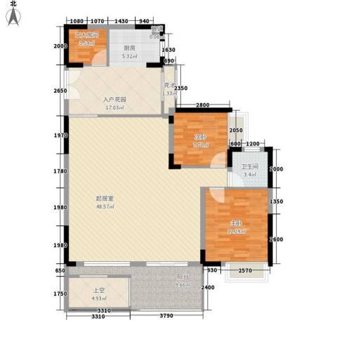 劲力城市明珠三期2室0厅1卫0厨114.00㎡户型图