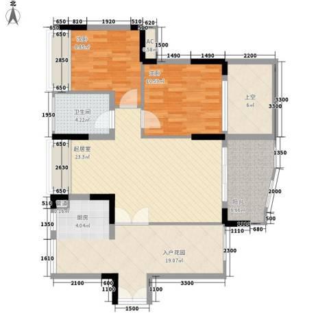 劲力城市明珠三期2室0厅1卫0厨80.00㎡户型图