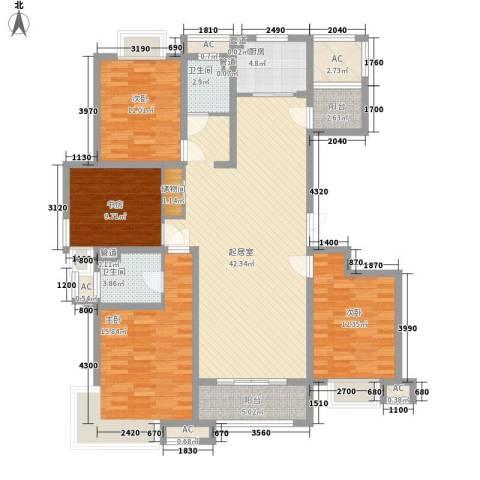 保利梧桐公馆4室0厅2卫1厨171.00㎡户型图
