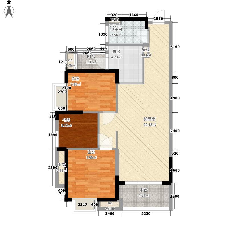 九江中航城4号楼、5号楼和6号楼F户型