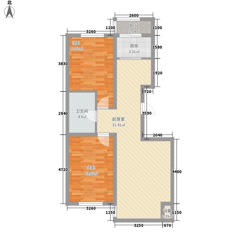 浅草绿阁三期105.00㎡浅草绿阁三期郦水枫霖2室户型2室