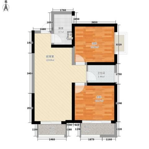 西盟公社2室0厅1卫1厨82.00㎡户型图
