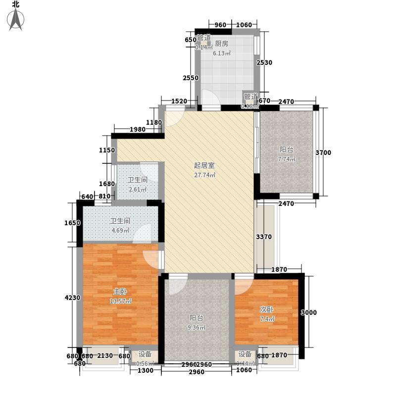 华盛君荟名庭华盛君荟名庭户型图2栋a单元2室2厅2卫1厨户型2室2厅2卫1厨
