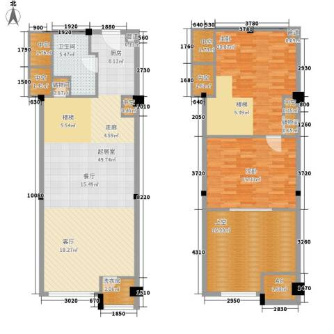 金沙富都2室0厅1卫0厨122.34㎡户型图