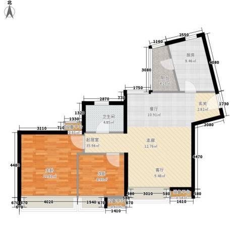 金羊花园2室0厅1卫1厨91.00㎡户型图