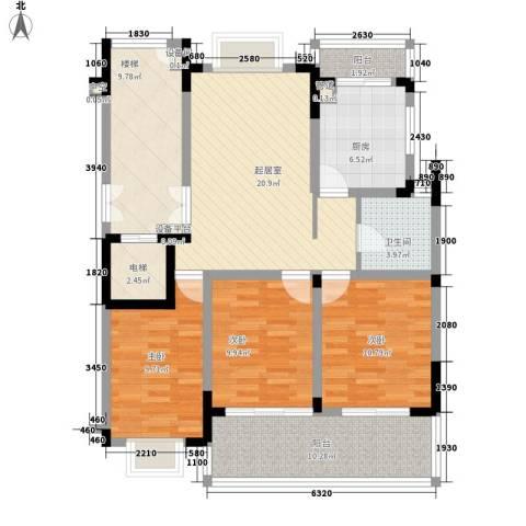 乐天桐墅湾3室0厅1卫1厨128.00㎡户型图