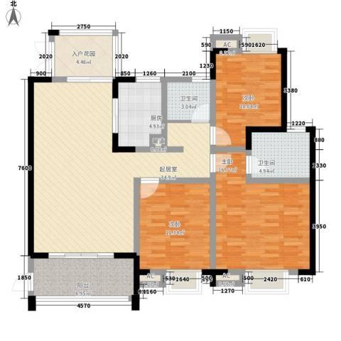 世纪城龙昌苑3室0厅2卫1厨114.83㎡户型图