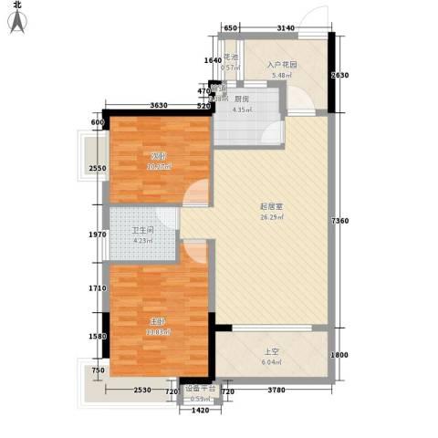 联佳大厦2室0厅1卫1厨102.00㎡户型图