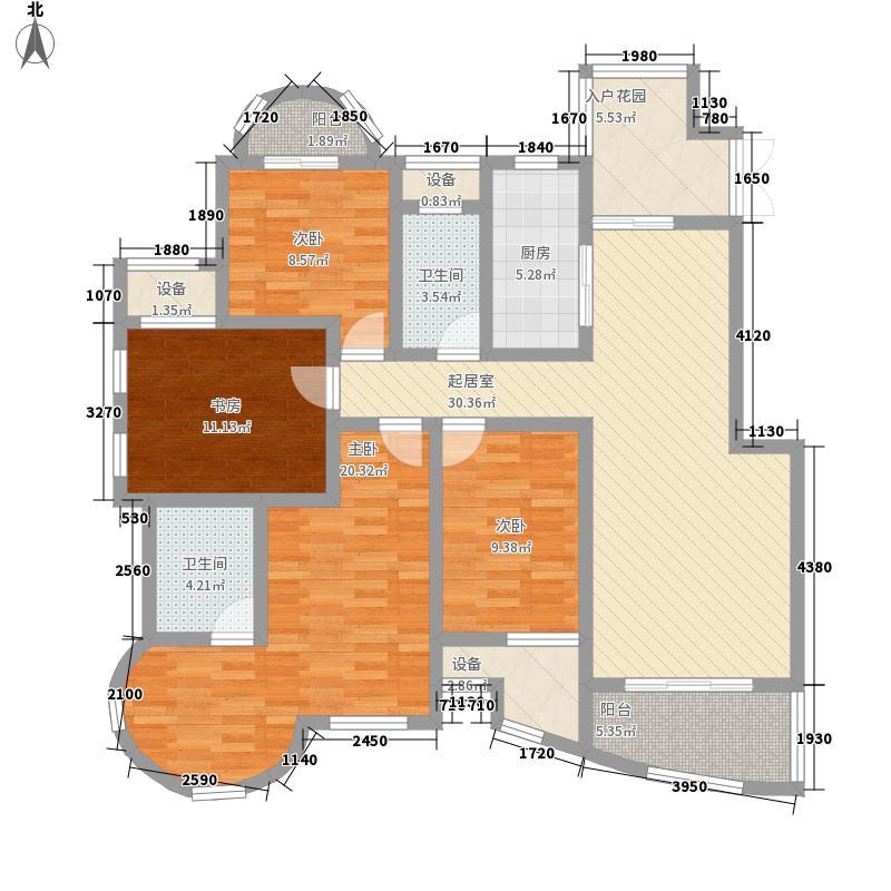海泰尚城国际164.00㎡二期高层I户型4室2厅2卫