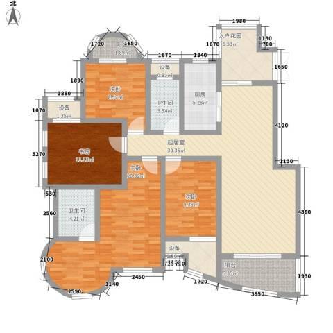 海泰尚城国际4室0厅2卫1厨164.00㎡户型图