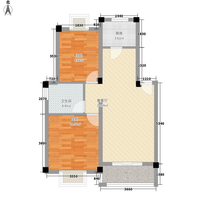 静安新天地82.00㎡静安新天地户型图D1B1户型2室2厅1卫1厨户型2室2厅1卫1厨