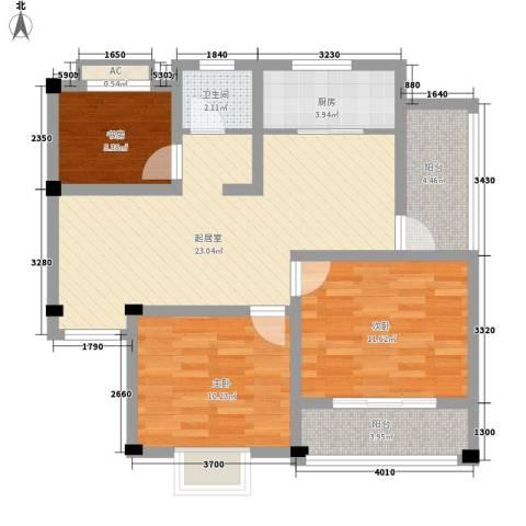 杨木桥小区3室0厅1卫1厨95.00㎡户型图