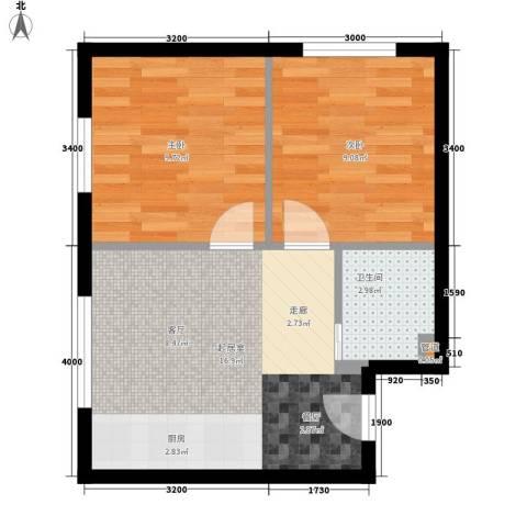省机住宅2室0厅1卫0厨54.00㎡户型图