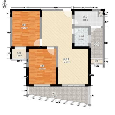博客山2室0厅1卫1厨105.00㎡户型图