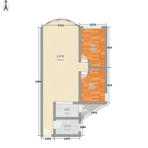 富景花园三期2室0厅1卫1厨75.00㎡户型图