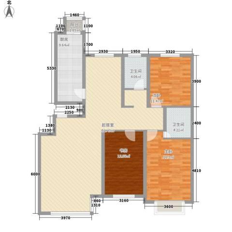 园东小区3室0厅2卫1厨158.00㎡户型图