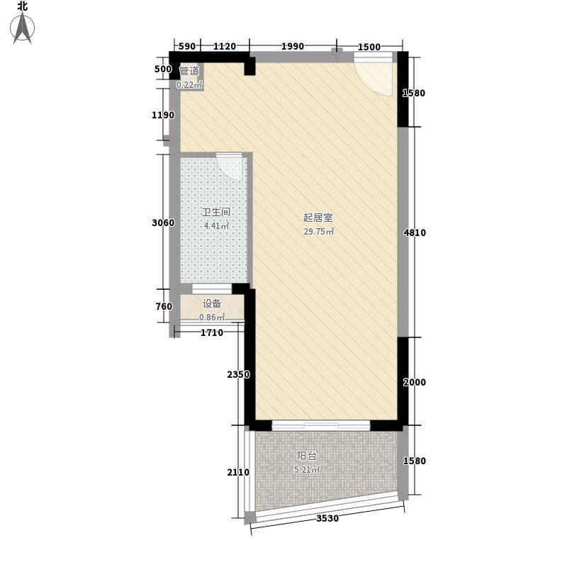 博客山56.50㎡博客山户型图单身公寓E1室1厅1卫1厨户型1室1厅1卫1厨