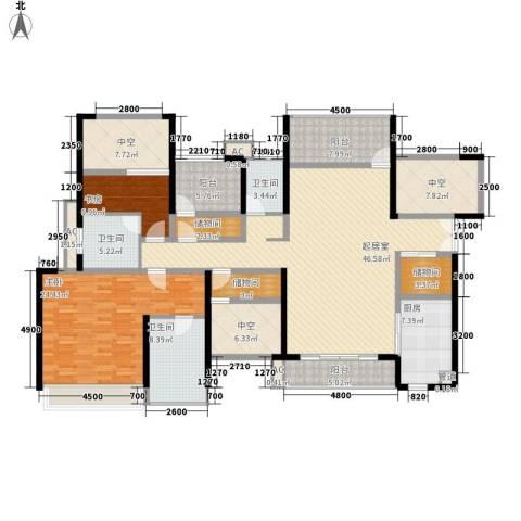 星河盛世2室0厅3卫1厨171.00㎡户型图