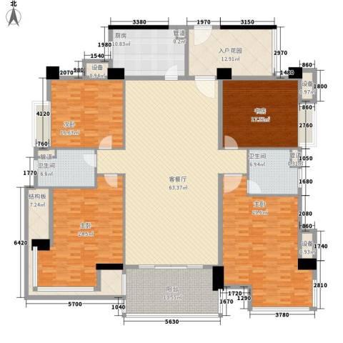 景湖春晓4室1厅2卫1厨300.00㎡户型图
