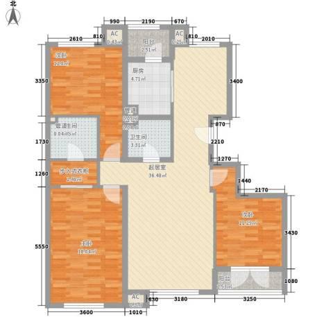保利西山林语别墅3室0厅2卫1厨143.00㎡户型图