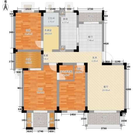 宏图上逸园3室0厅1卫1厨130.00㎡户型图
